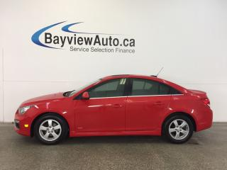 Used 2015 Chevrolet Cruze LT- TURBO! 6 SPD! ROOF! ALLOYS! REV CAM! MY LINK! for sale in Belleville, ON