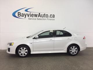 Used 2017 Mitsubishi Lancer - 2.4L! HEATED SEATS! A/C! REV CAM! BLUETOOTH! for sale in Belleville, ON