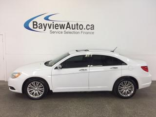 Used 2013 Chrysler 200 LTD- 3.6L! REM STRT! TINT! ROOF!HTD LTHR!UCONNECT! for sale in Belleville, ON