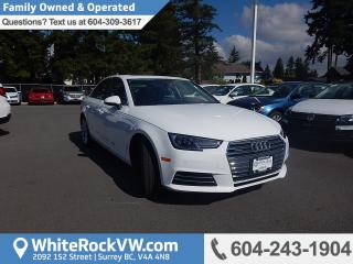 Used 2017 Audi A4 2.0T Progressiv NAVIGATION, MEMORY SEAT, HEATED STEERING WHEEL, POWER MOONROOF & RADIO DATA SYSTEM for sale in Surrey, BC