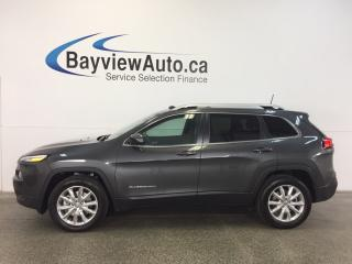 Used 2016 Jeep Cherokee LTD- 4x4|PANOROOF|REM STRT|HTD LTHR|NAV|REV CAM! for sale in Belleville, ON