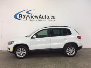 Used 2017 Volkswagen Tiguan - AWD! TSI! HTD LTHR! REV CAM! BLUETOOTH! for sale in Belleville, ON