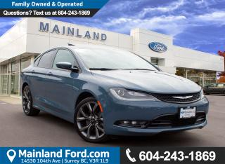Used 2015 Chrysler 200 NO ACCIDENTS, LOW KMS, LOCAL for sale in Surrey, BC