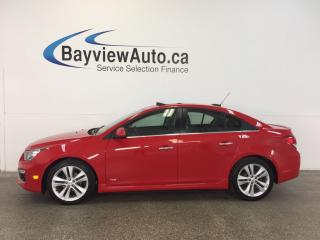 Used 2015 Chevrolet Cruze RS- TURBO|REM STRT|ROOF|HTD LTHR|NAV|BSA|PIONEER! for sale in Belleville, ON