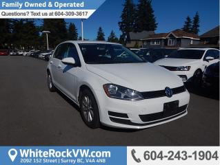 Used 2016 Volkswagen Golf 1.8 TSI Trendline HEATED FRONT SEATS, RADIO DATA SYSTEM & REAR VIEW CAMERA for sale in Surrey, BC