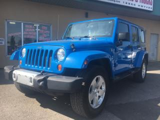 Used 2011 Jeep Wrangler Unlimited Sahara $256.98 BI WEEKLY! $0 DOWN! CERTIFIED! for sale in Bolton, ON
