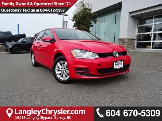 Used 2016 Volkswagen Golf 1.8 TSI Trendline *ACCIDENT FREE*ONE OWNER*LOCAL BC CAR* for sale in Surrey, BC
