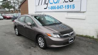 Used 2012 Honda Civic LX for sale in Richmond, ON