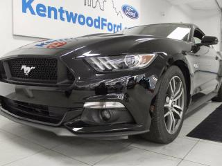 Used 2016 Ford Mustang GT 5.0L V8 with NAV, heated/cooled power leather seats, push start/stop, back up cam, and MANUAL for sale in Edmonton, AB