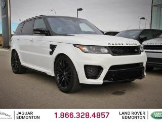 Used 2017 Land Rover Range Rover Sport 5.0L V8 Supercharged SVR - CPO 6yr/160000kms manufacturer warranty included until April 26, 2023! CPO rates starting at 2.9%! Local One Owner Trade In | No Accidents | FULL Front End Applied with 3M | Navigation | Surround Camera System | Parking Se for sale in Edmonton, AB