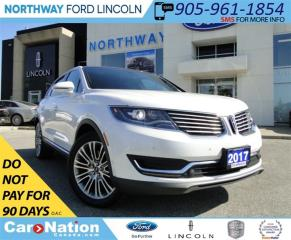 Used 2017 Lincoln MKX Reserve | NAV | LEATHER | 360 CAM | PANO ROOF | for sale in Brantford, ON
