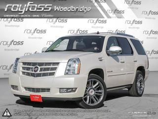 Used 2013 Cadillac Escalade LEATHER. ROOF. NAV. PEARL WHITE for sale in Woodbridge, ON