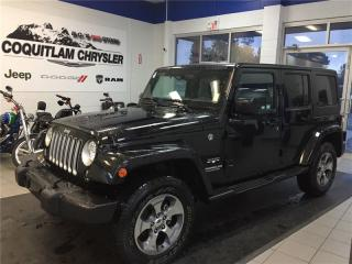 Used 2017 Jeep Wrangler Unlimited Sahara for sale in Coquitlam, BC