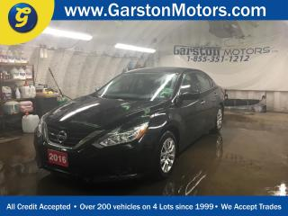 Used 2016 Nissan Altima S*CVT*BACK UP CAMERA*REMOTE START*HANDS FREE CALLING*BLUETOOTH AUDIO STREAMING*PUSH BUTTON IGNITION*POWER HEATED MIRRORS*POWER DRIVER SEAT*FOG LIGHTS*POWER WINDOWS/DOORS*KEY LESS ENTRY*BLUETOOTH/FM/AM/XM/CD/AUX/ MP3 READY* for sale in Cambridge, ON