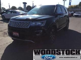 Used 2016 Ford Explorer Platinum - Chrome Trim - Low Mileage for sale in Woodstock, ON