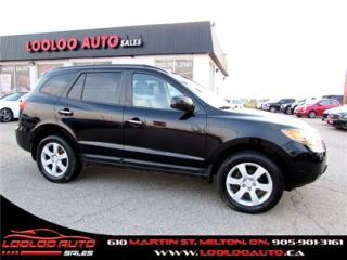 Used 2009 Hyundai Santa Fe Limited 3.3L Leather Sunroof Certified 2YR Warra for sale in Milton, ON