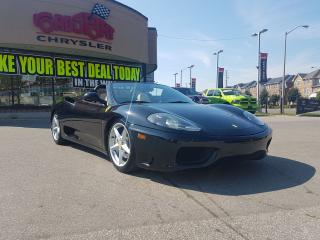 Used 2003 Ferrari 360 Spider CONVERTIBLE BLACK ON BLACK 6 SPEED CLEAN for sale in Scarborough, ON