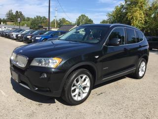 Used 2014 BMW X3 XDRIVE28I * AWD * LEATHER * NAV * REAR CAM * PANO SUNROOF * BLUETOOTH for sale in London, ON