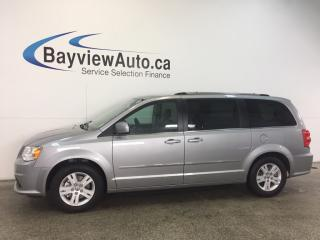 Used 2017 Dodge Grand Caravan CREW- HITCH|HTD LTHR|STOW 'N GO|REV CAM|PWR TRUNK! for sale in Belleville, ON