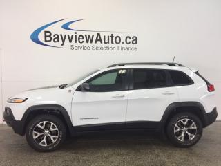 Used 2017 Jeep Cherokee TRAILHAWK- 4x4|HTD LTHR|NAV|ADAPTIVE CRUISE|BSA! for sale in Belleville, ON