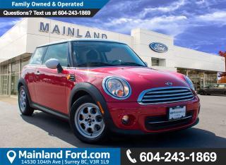 Used 2012 MINI Cooper NO ACCIDENTS, LOW KMS, LOCAL for sale in Surrey, BC