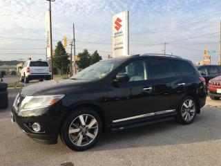 Used 2014 Nissan Pathfinder Platinum ~Nav ~Panoramic Sunroof ~Backup Camera for sale in Barrie, ON
