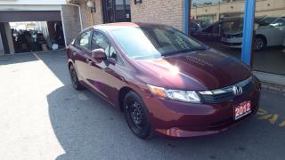 Used 2012 Honda Civic LX/AUTO/BLUETOOTH/VERY CLEAN/IMMACULATE $8999 for sale in Brampton, ON