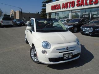Used 2012 Fiat 500 Pop  LOW KM  AUX BACKUP SENSOR SAFETY INC for sale in Oakville, ON