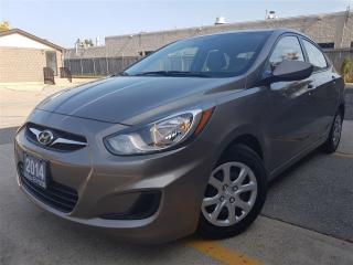 Used 2014 Hyundai Accent GL-2.99% available-NEW tires, new brakes-pristine for sale in Mississauga, ON