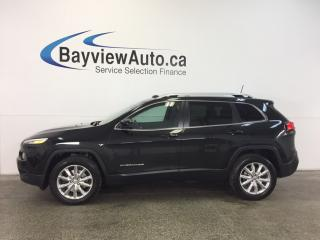 Used 2016 Jeep Cherokee LTD- 4x4|PANOROOF|HTD LTHR|NAV|REV CAM|REM START! for sale in Belleville, ON