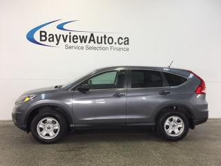 Used 2016 Honda CR-V LX- AWD! HEATED SEATS! A/C! REV CAM! BLUETOOTH! for sale in Belleville, ON