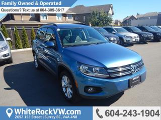 Used 2017 Volkswagen Tiguan Wolfsburg Edition WOLFSBURG EDITION, POWER MOONROOF, CRUISE CONTROL, KEYLESS ENTRY & A/C for sale in Surrey, BC