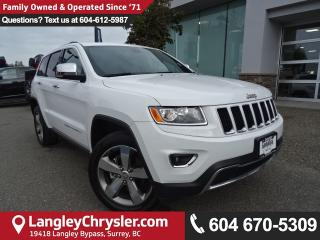 Used 2016 Jeep Grand Cherokee Limited *ACCIDENT FREE*ONE OWNER*LOCAL BC JEEP* for sale in Surrey, BC