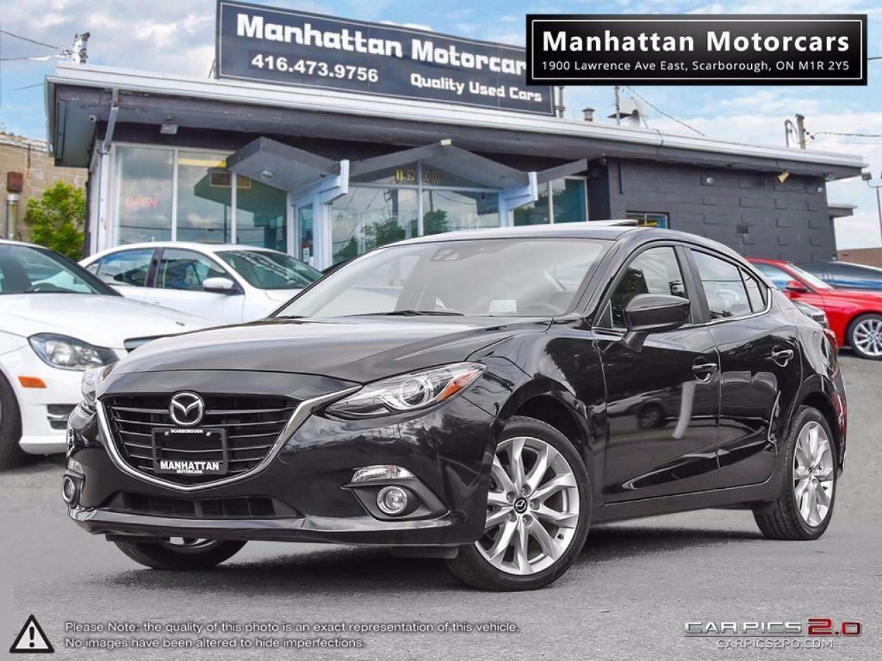 2014 Mazda MAZDA3 GT-SKY AUTO  NAV CAMERA LEATHER WARRANTY 52,000KM