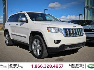 Used 2011 Jeep Grand Cherokee Overland 5.7L HEMI - Local One Owner Trade In | No Accidents | Navigation | Back Up Camera | Parking Sensors | Panoramic Sunroof | Trailer Package | 20 Inch Wheels | Air Suspension | Adjustable Drive Modes | Heated/Cooled Front Seats | Heated Rear Seats | for sale in Edmonton, AB