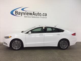 Used 2017 Ford Fusion SE- AWD|eCOBOOST|ROOF|REM STRT|HTD LTHR|NAV|SYNC! for sale in Belleville, ON
