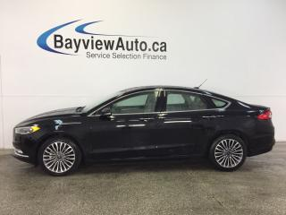Used 2017 Ford Fusion SE- ECOBOOST|AWD|ROOF|HTD LTHR|NAV|REV CAM|SYNC! for sale in Belleville, ON