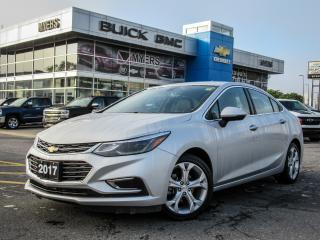 Used 2017 Chevrolet Cruze PREMIER,AUTO,LEATHER, HEATED SEATS & STEERING WHEEL! for sale in Ottawa, ON