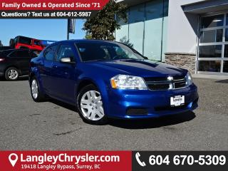 Used 2012 Dodge Avenger Base *ACCIDENT FREE*ONE OWNER*LOCAL BC CAR* for sale in Surrey, BC