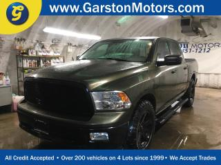 Used 2012 Dodge Ram 1500 CREW CAB*4WD*HEMI*SPRAY IN BOX LINER*TONNEAU COVER*SIDE STEPS*ALLOYS w/GOOD YEAR WRANGLER OFF ROAD TIRES*U CONNECT PHONE*REMOTE START*FOG LIGHTS* for sale in Cambridge, ON