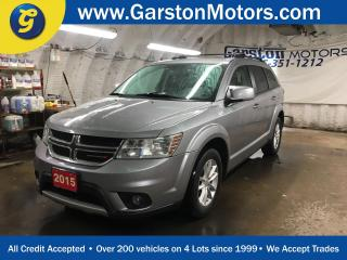 Used 2015 Dodge Journey SXT*7 PASSENGER*KEYLESS ENTRY w/REMOTE START*TRI ZONE CLIMATE CONTRL w/REAR AIR CONTROL*PHONE CONNECT*CRUISE CONTROL*ALLOYS*FOG LIGHTS*PUSH BUTTON START*POWER WINDOWS/LOCKS/HEATED MIRRORS*AM/FM/CD/AUX/USB/BLUETOOTH*TRACTION CONTROL*ROOF RACK* for sale in Cambridge, ON