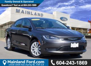Used 2016 Chrysler 200 LX LOCAL, NO ACCIDENTS, LOW KMS for sale in Surrey, BC