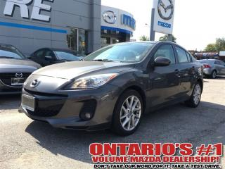 Used 2013 Mazda MAZDA3 GT TECH PKG. LEATHER, SUNROOF, NAVIGATION-TORONTO for sale in North York, ON