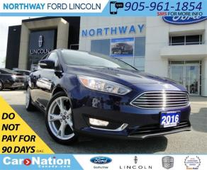 Used 2016 Ford Focus Titanium | NAV | REAR CAM | LEATHER | SUNROOF | for sale in Brantford, ON