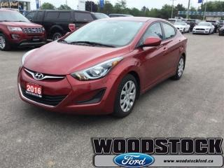 Used 2016 Hyundai Elantra GL Local Trade, LOW KM, 29866 for sale in Woodstock, ON