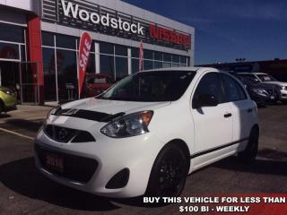 Used 2016 Nissan Micra SV  - Bluetooth - $91.20 B/W for sale in Woodstock, ON