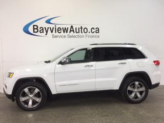 Used 2016 Jeep Grand Cherokee LTD- 4x4|REM STRT|ROOF|HTD LTHR|UCONNECT|REV CAM! for sale in Belleville, ON