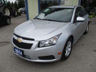 Used 2014 Chevrolet Cruze LOADED 2-LT MODEL 5 PASSENGER 1.4L - TURBO.. LEATHER.. HEATED SEATS.. BLUETOOTH.. BACK-UP CAMERA.. for sale in Bradford, ON