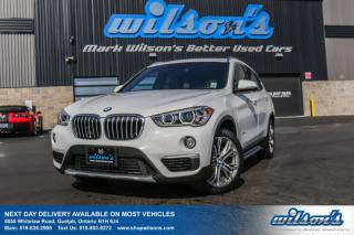 Used 2017 BMW X1 XDRIVE 28i AWD! LEATHERETTE! PANO SUNROOF! 360 REAR CAMERA! HEATED SEATS! PWR+MEMORY SEAT! for sale in Guelph, ON
