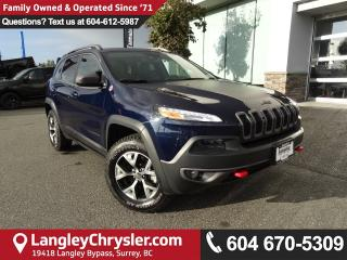 Used 2016 Jeep Cherokee Trailhawk *ACCIDENT FREE * DEALER INSPECTED * CERTIFIED * for sale in Surrey, BC